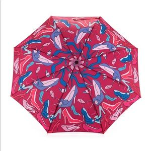 Anna Coroneo High Heels Print Umbrella Rouge NWT
